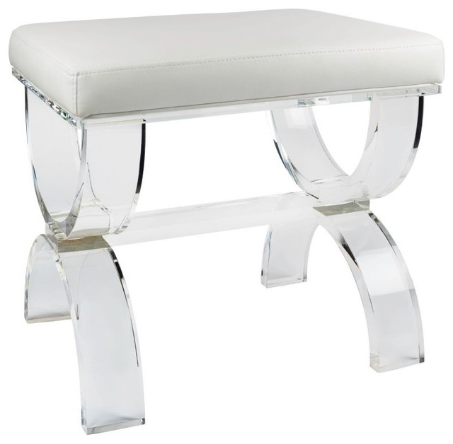 Cecily Acrylic Bench - Modern - Vanity Stools And Benches - by Taymor