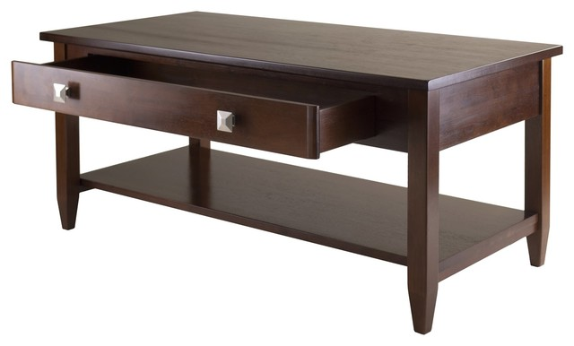 Winsome Wood Richmond Coffee Table With Antique Walnut