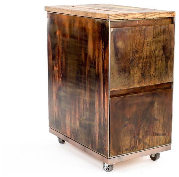 Charmant Vintage 2 Drawer Mobile File Cabinet