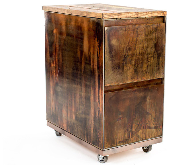 Urban 9-5 - Vintage 2-Drawer Mobile File Cabinet & Reviews | Houzz