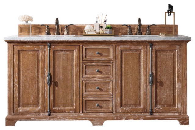 "Providence 72"" Double Vanity Cabinet Driftwood"