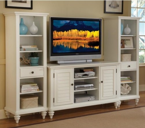 Charmant Home Styles Bermuda White 3 Piece Entertainment Center