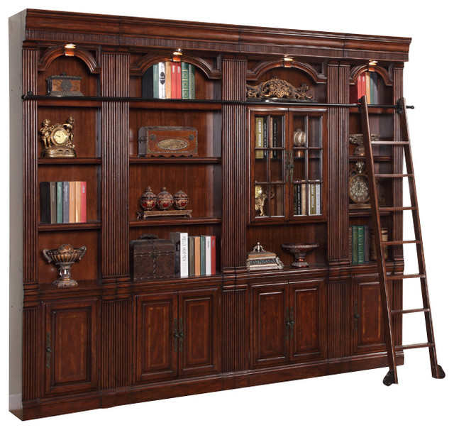 wall cannery products room bookcase unit bookcases storage living bridge sauder or office