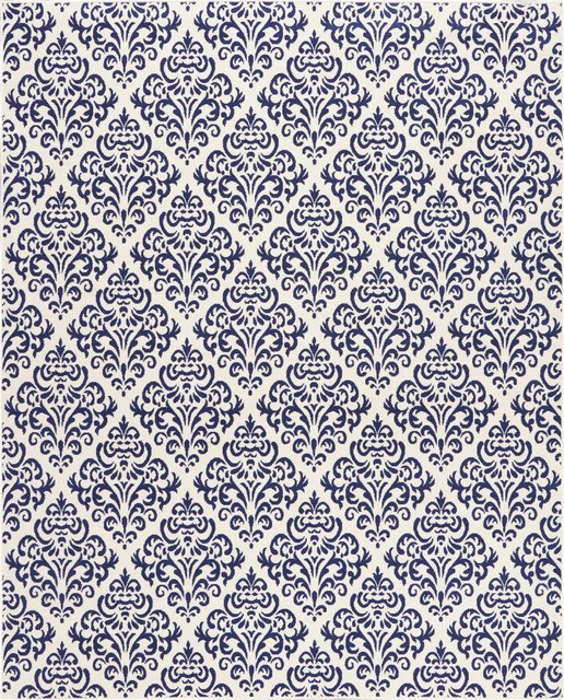 Nourison Grafix Area Rug, White Blue, 7&x27;10x9&x27;10.