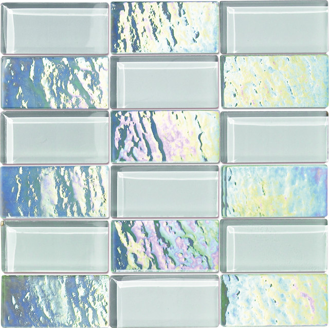 Glass Subway Tiles, Diamond.