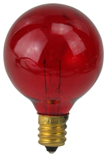incandescent g40 christmas replacement bulbs set of 25 red - Christmas Replacement Bulbs