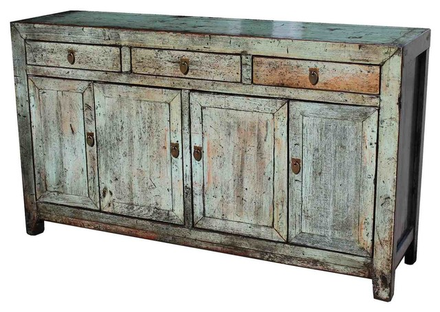 natural wood distressed saddlemeyer buffet asian buffets and rh houzz com distressed wood buffet sideboard Gray Distressed Furniture