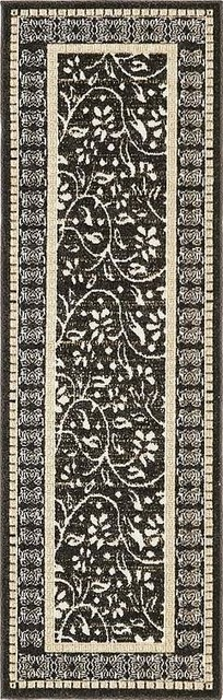 2&x27;x6&x27;transitional Black Runner Area Rug.