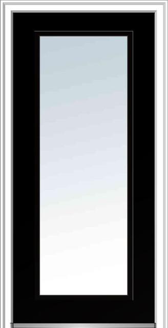 """Clear Glass Full Lite Steel 33.5""""x81.75"""" Left Hand In-Swing."""