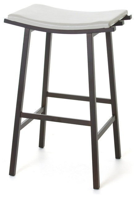Amisco Nathan Non Swivel Backless Stool 40033 26 Counter Height Transitional Bar