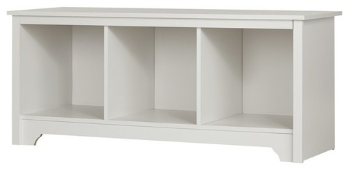 South Shore Vito Cubby Storage Bench, Pure White