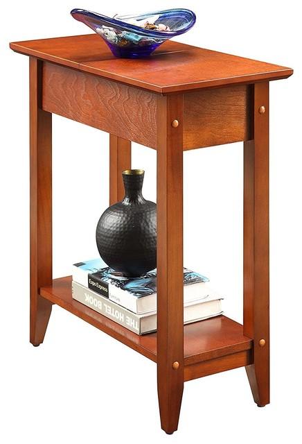 Unique Design American Heritage Flip Top End Table, Cherry.