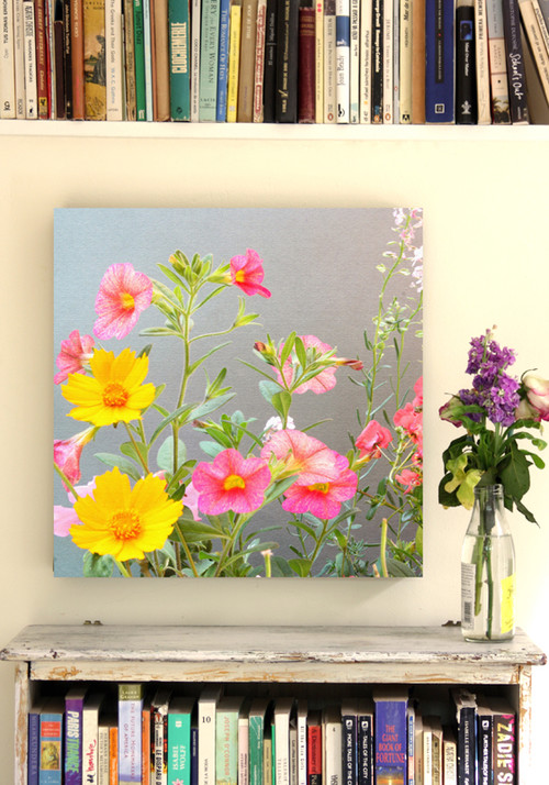 Floral Canvas Wall Decor eclectic living room