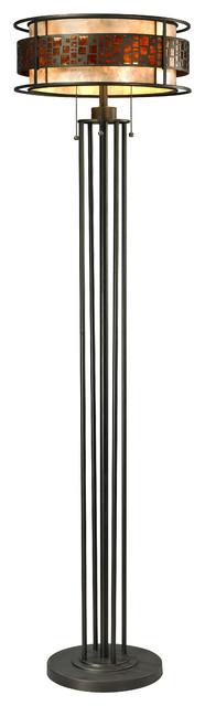 Meyda Tiffany Fishscale Tiffany Floor Lamp X-65403