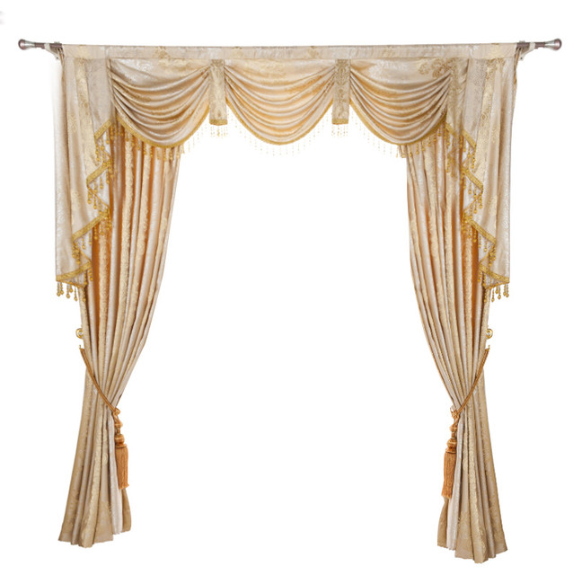 Luxurious Window Curtain, Cozy Feeling, 100x96, 2 Panels With Valance.