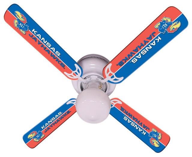 """Kansas Jayhawks 42"""" Ceiling Fan."""