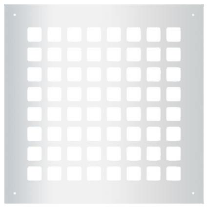 Steel Grid Pattern Grille, Silver, 8x8.