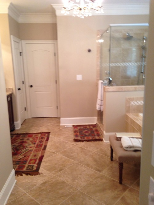 Master Bath Rug Size And Placement?