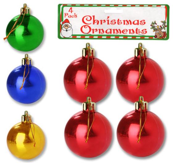 Bulk Buys Plastic Christmas Ornament Balls, 24-Piece Set - Modern ...