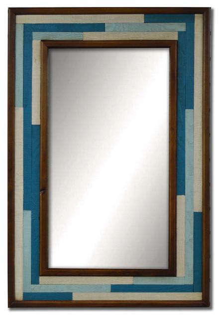 "Blue Patch Mirror 02, 24x36""."