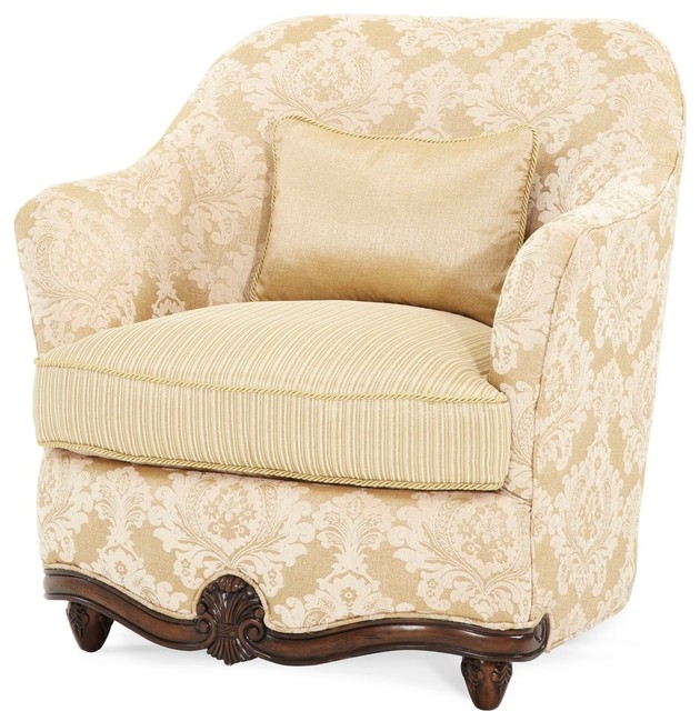 Aico Micheal Amini Accent Chair And A Half: AICO Michael Amini Palace Gates Chair And A Half, Pearl