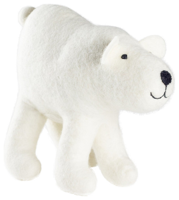 Felt So Good Big Polar Bear Christmas Decoration - Contemporary - Christmas Ornaments - by Felt so good