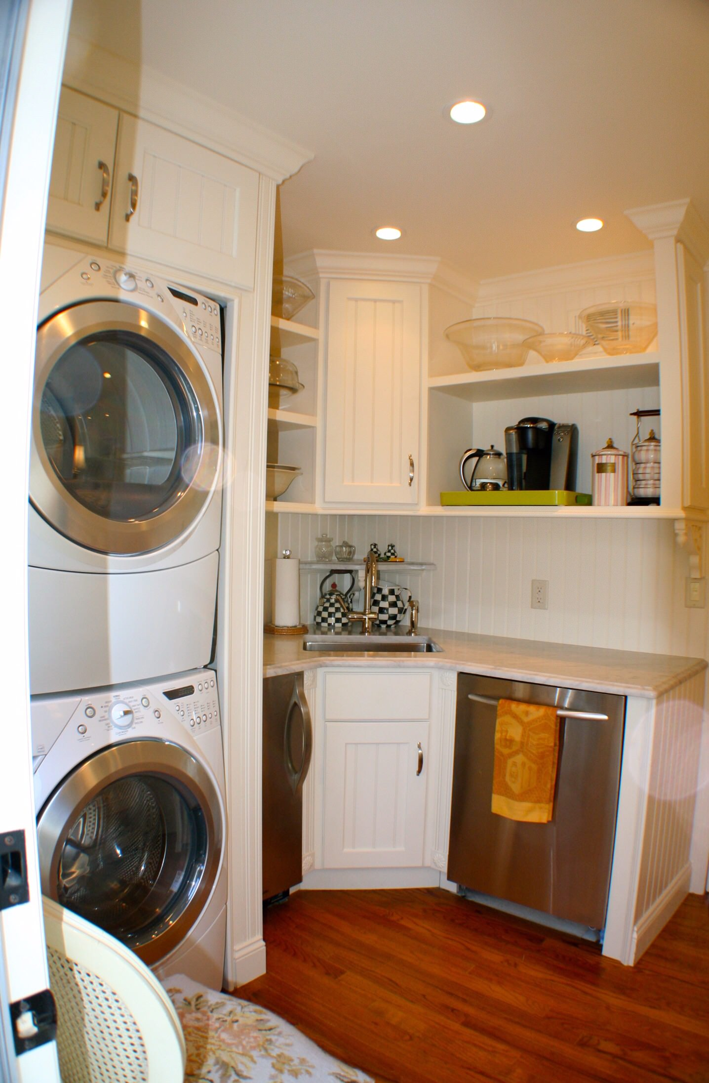Laundry room and Back hall