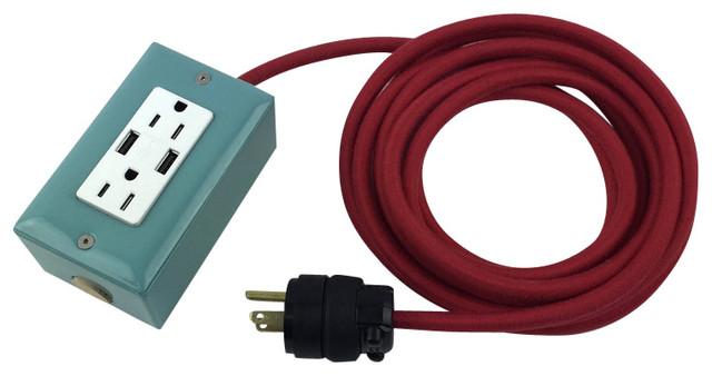Extension Cord With 2 Usb Ports Mint Contemporary