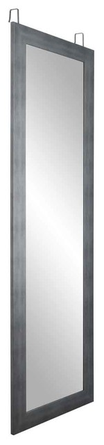 "Brandtworks 21.5""x71"" Cool Muted Silver Over The Door Full Length Mirror."