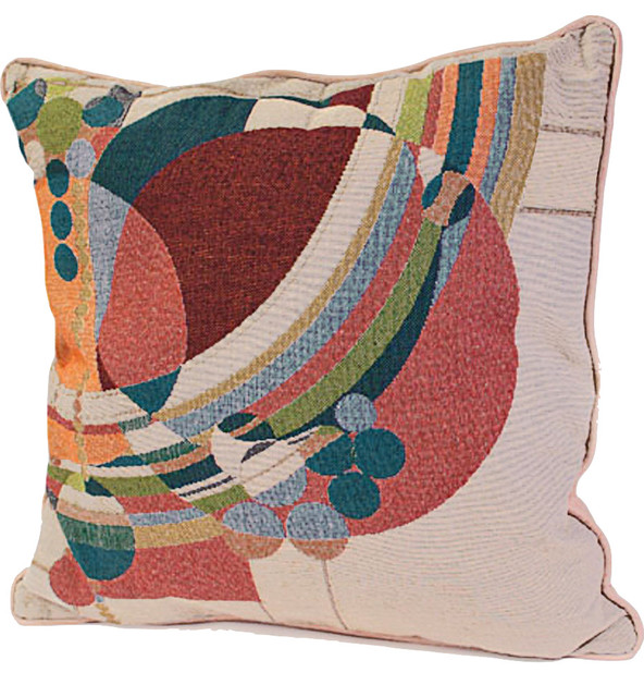 Frank Lloyd Wright March Balloons Tapestry Pillow