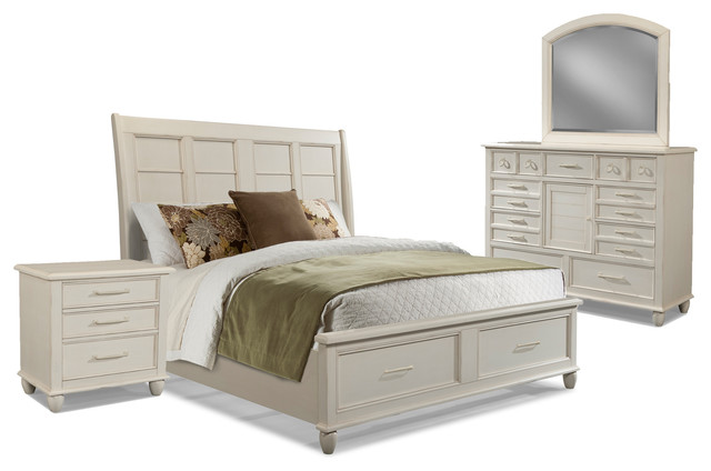 bedroom set with storage white beach style bedroom furniture sets