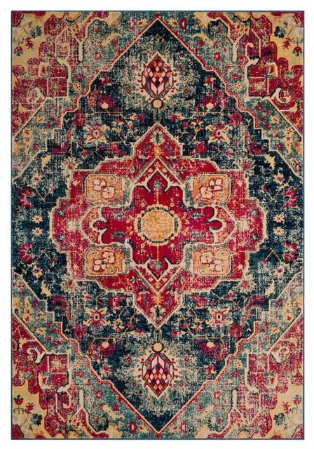Safavieh Evoke Woven Rug, Blue/fuchsia, 8&x27;x10&x27;.