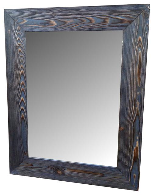 Superior Navy Blue Mirror, Vanity Mirror Rustic Bathroom Mirrors