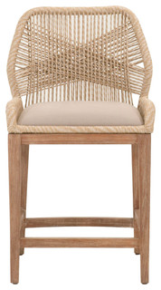 Loom Counter Stool Sand Contemporary Bar Stools And