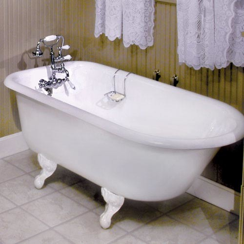55 inch celine cast iron roll top claw foot tub