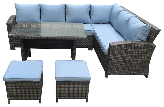 Outdoor Sectional And Dining Set
