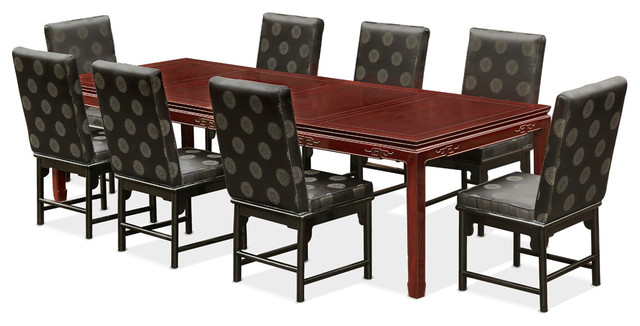 114 Rosewood Longevity Design Dining Table With 8 Chairs