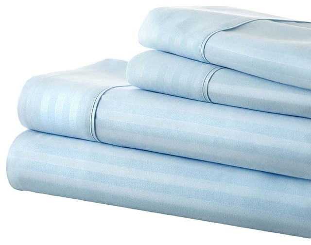 Michael Anthony Striped 4 Piece Cal King Sheet Set