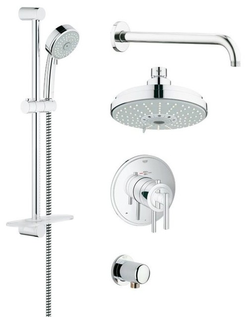 grohflex shower trimset bathroom sink and faucet parts