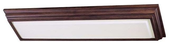 Minka Lavery 1001-126-Pl Kitchen Fluorescent Ceiling Light In Belcaro Walnut.