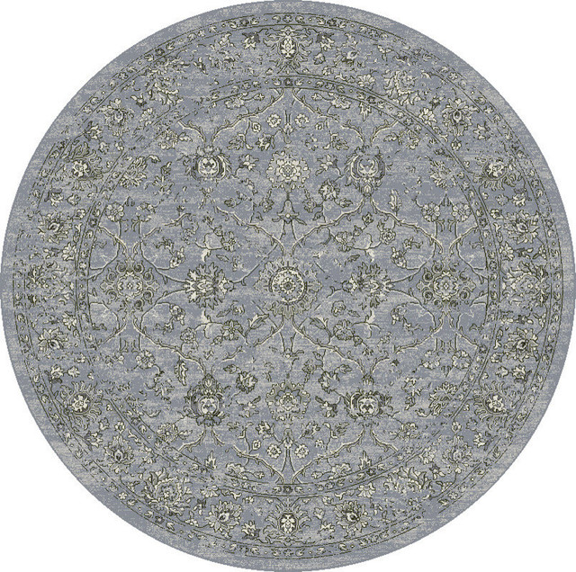 """Dynamic Rugs Ancient Garden Cream/Gray Classic Area Rug, 7'10"""" Round"""