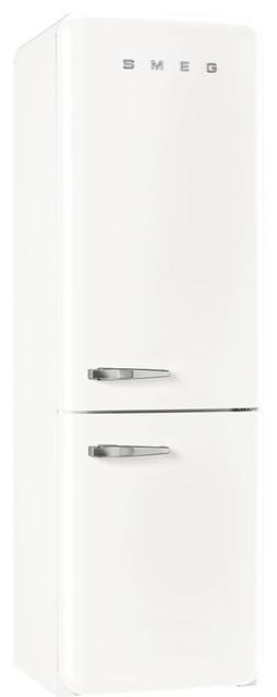50's Retro Style Aesthetic Refrigerator, White, Right Hand Hinge