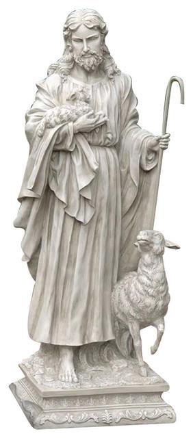 Jesus The Good Shepherd Large Statue Contemporary