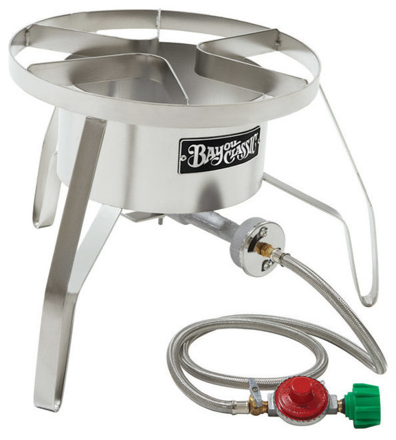 "Bayou Classic Single Jet Pressure Cooker, Stainless Steel, 12""."