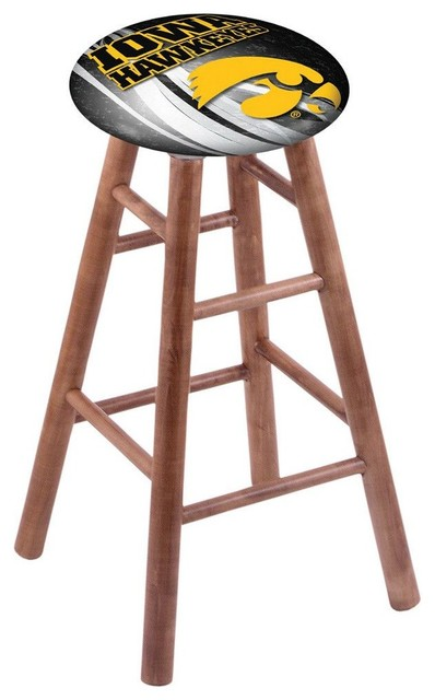 Iowa Hawkeyes Swivel Bar Stool With Medium Brown Maple  : contemporary bar stools and counter stools from www.houzz.com size 398 x 640 jpeg 44kB