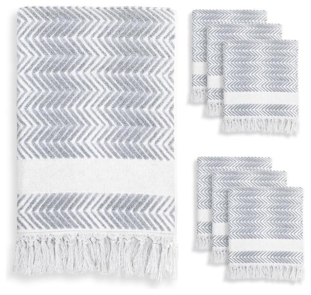 bb393eb8c9a3 Linum Home Textiles Assos 7-Piece Towel Set - Contemporary - Bath Towels -  by Linum Home Textiles