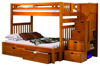 Bunk Beds For Adults Or Youth Twin/Full With Storage & Shelves