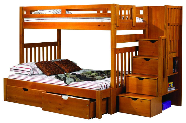 Bunk Beds For Adults Or Youth Twin/full With Storage & Shelves.