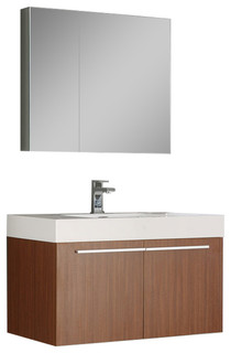 Fresca vista fvn8090bw modern bathroom vanity with for Decorplanet bathroom vanities