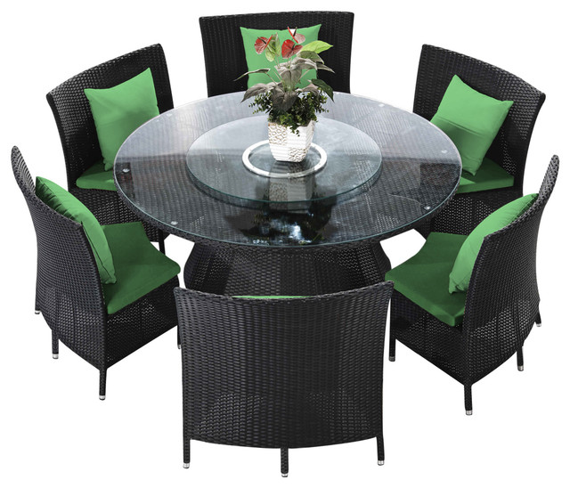 Nightingale 7 Piece Outdoor Dining Set Contemporary Outdoor Dining Sets